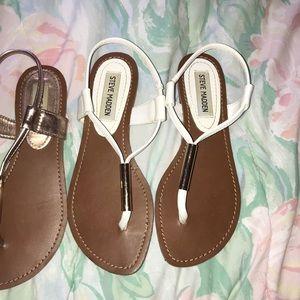White Steve Madden Sandals